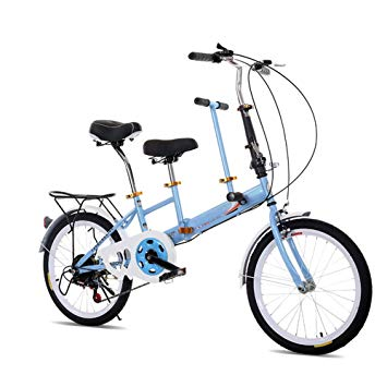 355x355 Oukaning Folding Tandem Bike Family Bicycle Seater Double