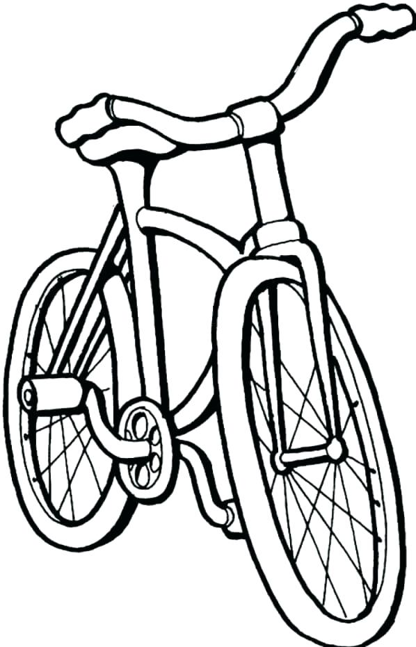 598x931 Bicycle Coloring Pages About The Powerful Mountain Bike Coloring