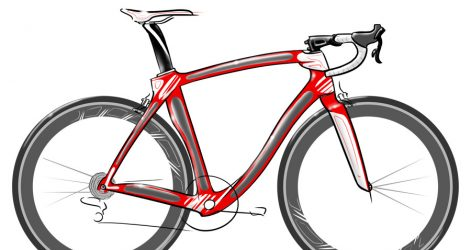 471x250 Drawing Simple Flowers Bike Outline Line Easy Experiment Image