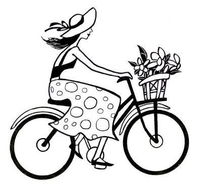 394x373 Bike Line Drawing