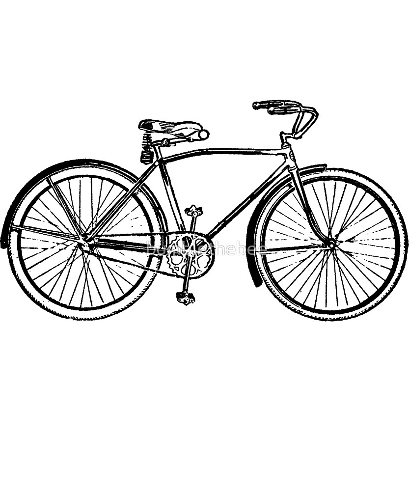 833x1000 Bicycle Drawing Line For Free Download