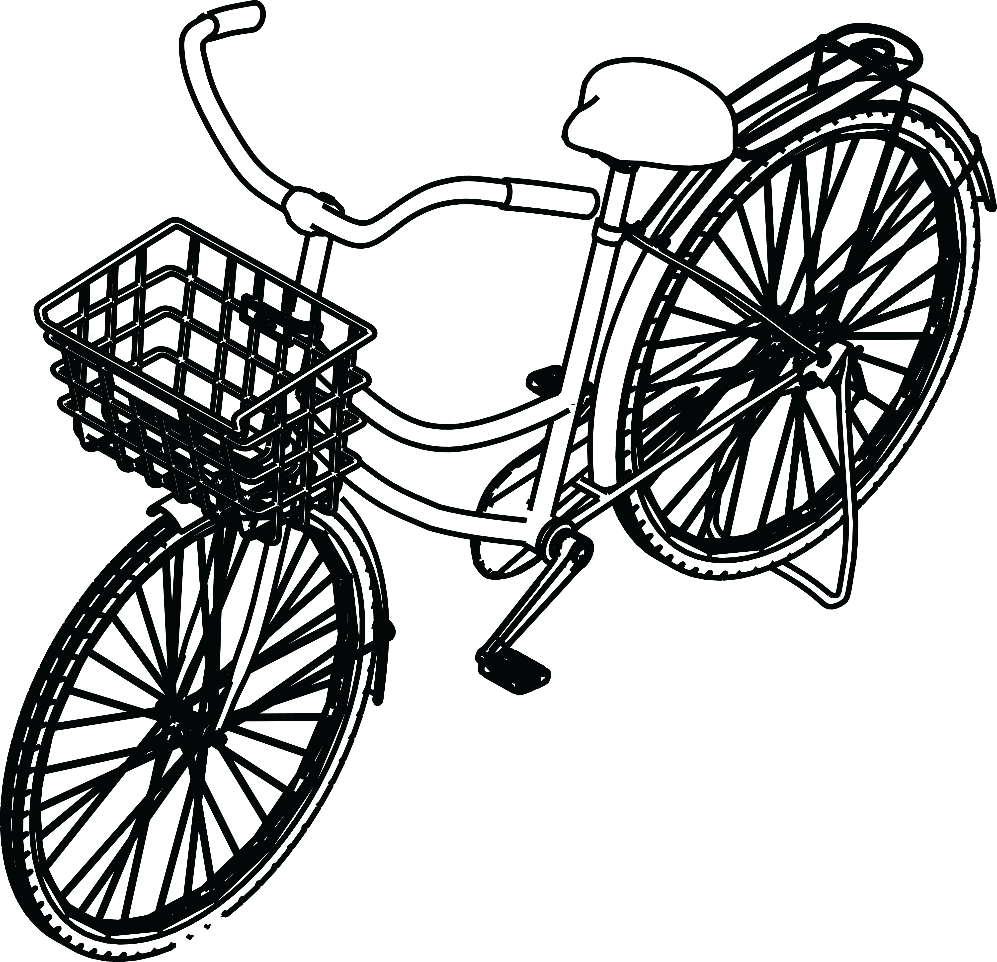 4000x3859 Basket Clipart Bike For Free Download And Use In Presentations