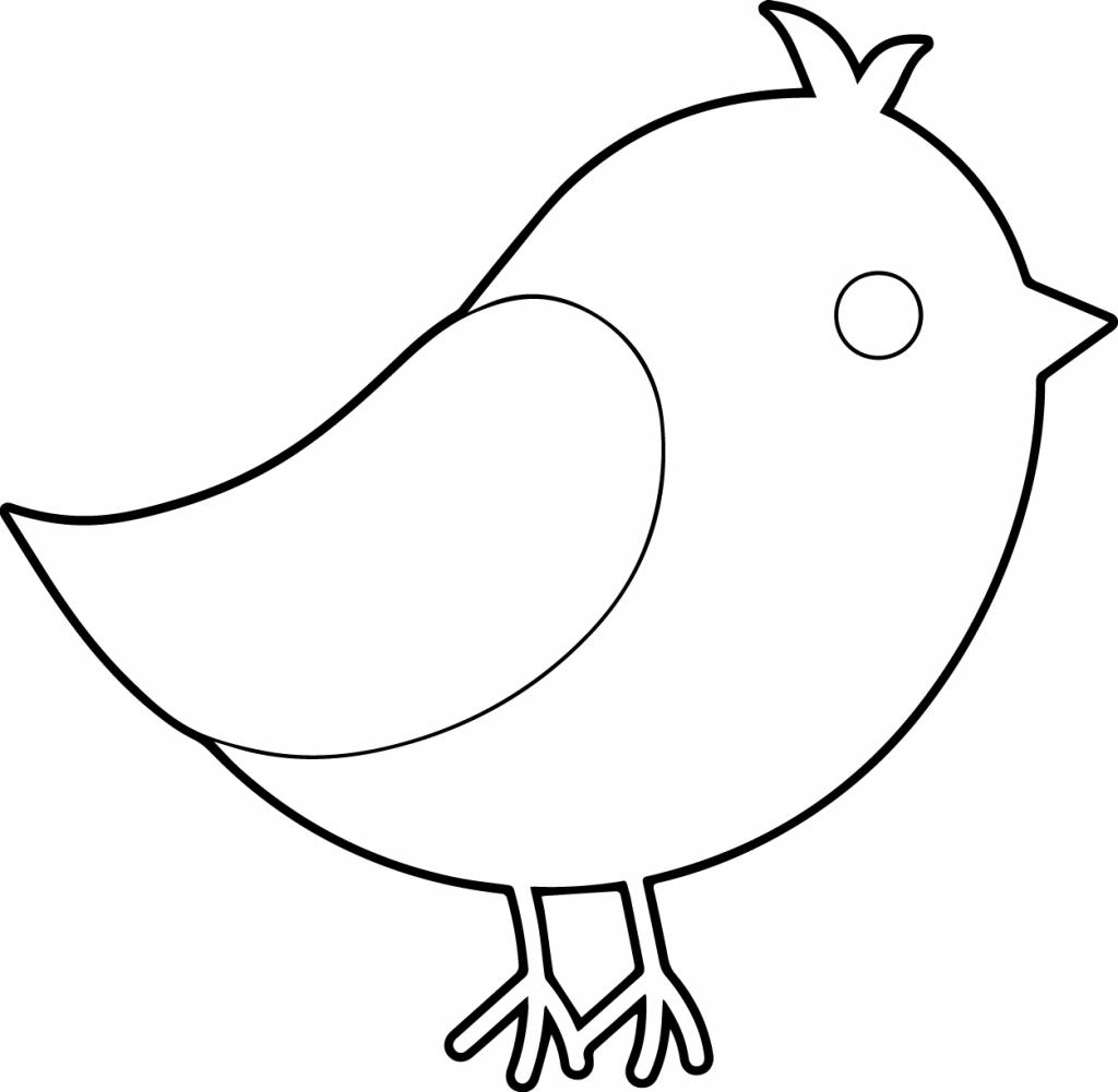 1024x1001 Bird Drawing Simple For Free Download