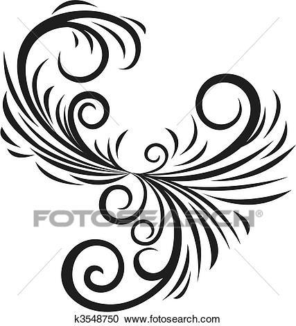 427x470 fancy drawings fancy bird flower emblem deve drawing