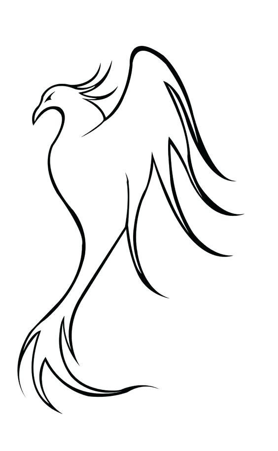 564x915 Easy To Draw Phoenix Draw Phoenix How To Draw Easy Phoenix