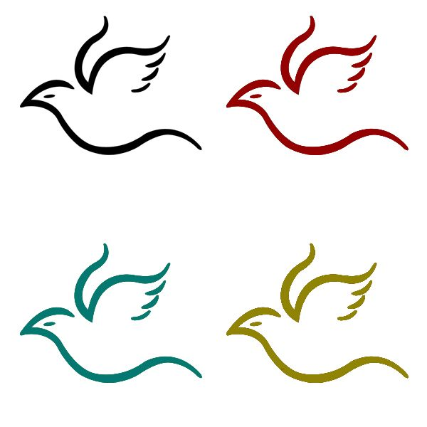 600x600 Flying Bird Simple Logo