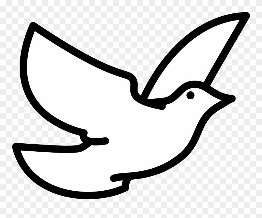 880x733 Holy Spirit Dove Clipart Black And White Flying Line