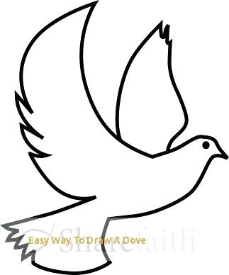 323x388 How To Draw A Easy Dove How To Draw Dove Easy Step