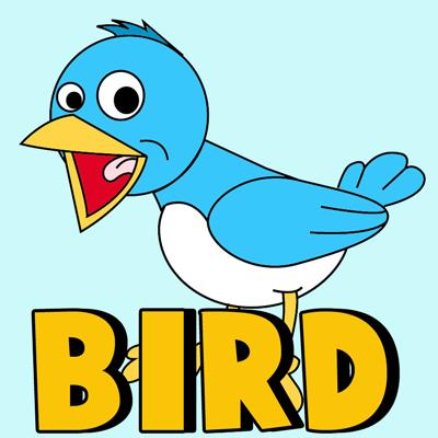 400x400 How To Draw Cartoon Birds With Easy Step
