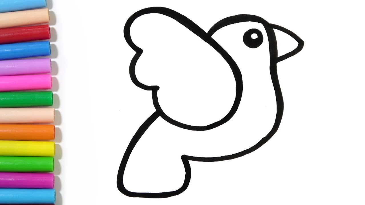 1280x720 How To Draw A Cute Bird Easy Hde