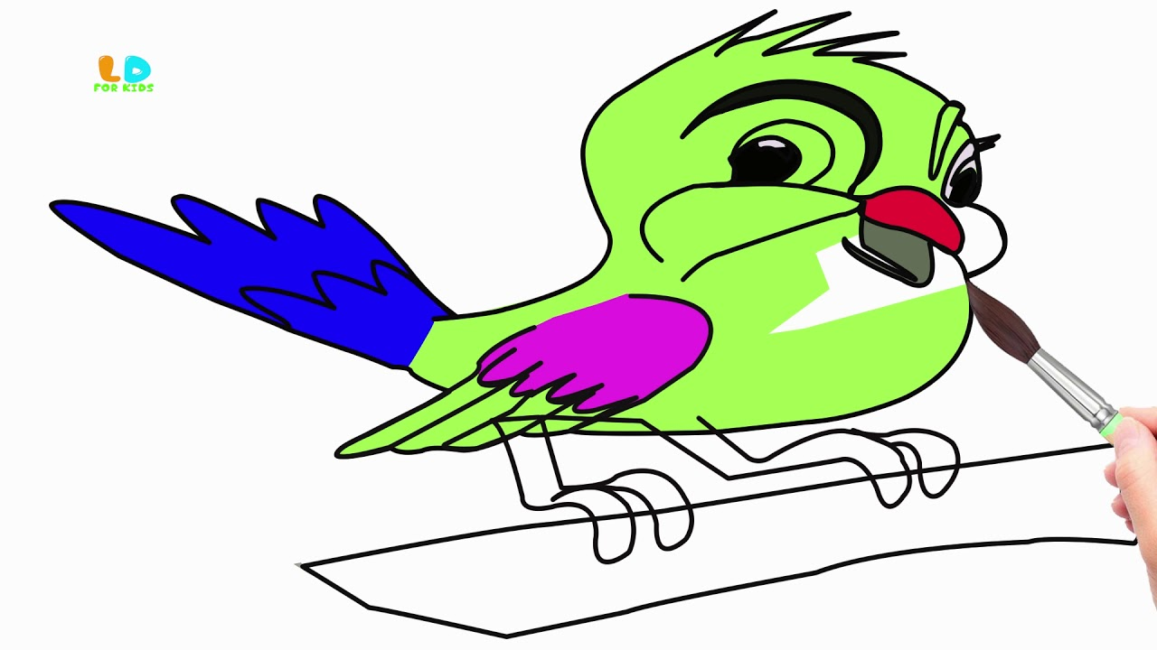 1280x720 Download Thumbnail For How To Draw Bird For Kids