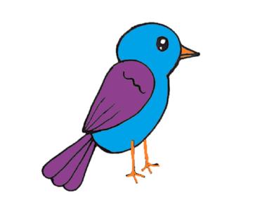 370x297 How To Draw A Cute Bird Step