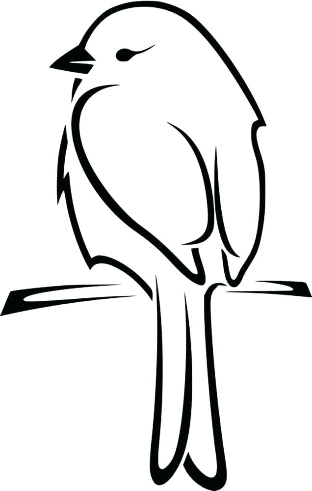 636x999 Bird Drawing Simple For Kids Cartoon Fundamentals How To Draw