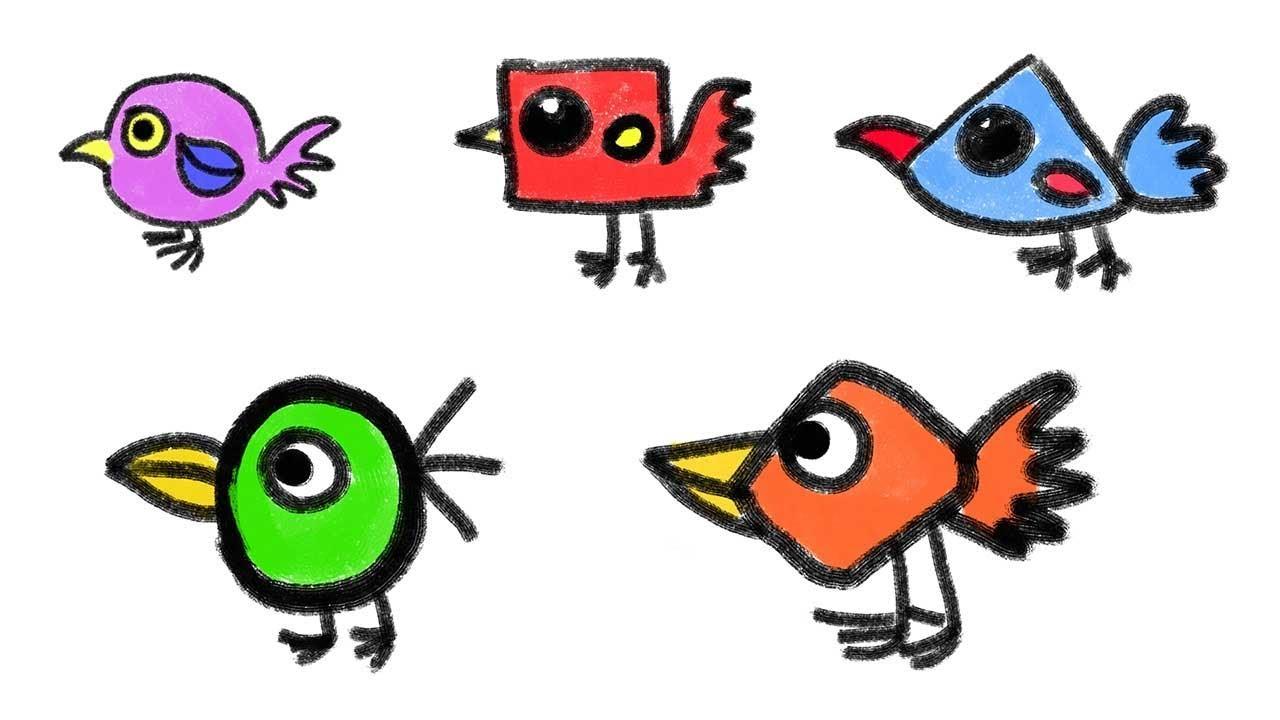 1280x720 Bird Drawing For Kid How To Draw Bird How To Draw Birds