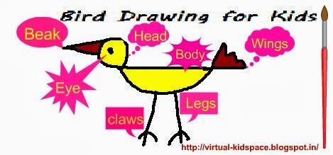 469x219 Bird Drawing For Kids Virtual Kidspace
