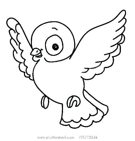 450x470 Flying Bird Coloring Pages Big Unique