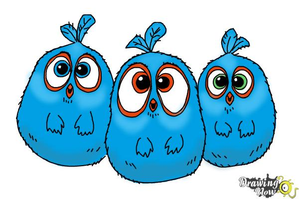 600x400 How To Draw The Blues From The Angry Birds Movie