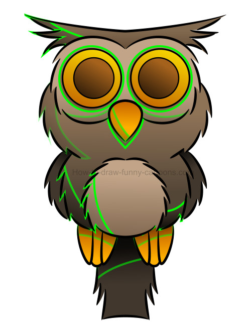 500x667 How To Draw An Owl Clip Art