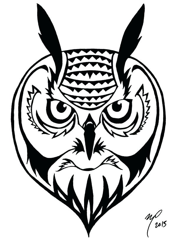 600x850 Owl Simple Drawing