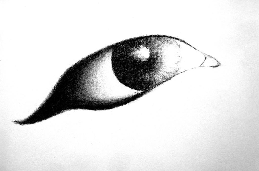 1024x677 Simple Eye Drawing Simple Eye Drawing, Draw With Charcoal
