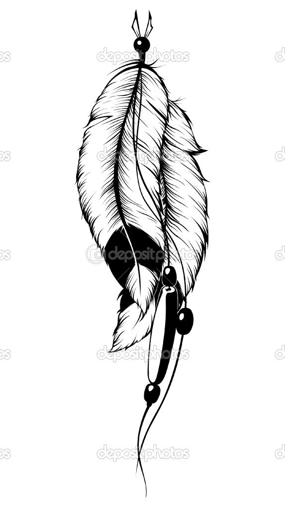 573x1024 Huge Collection Of 'indian Feather Drawing' Download More Than