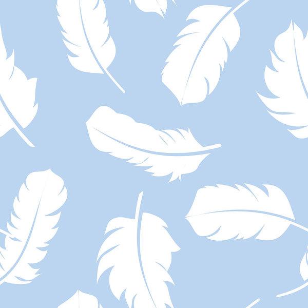 600x600 Bird Feather Hand Drawn Seamless Pattern Background Vector Illus
