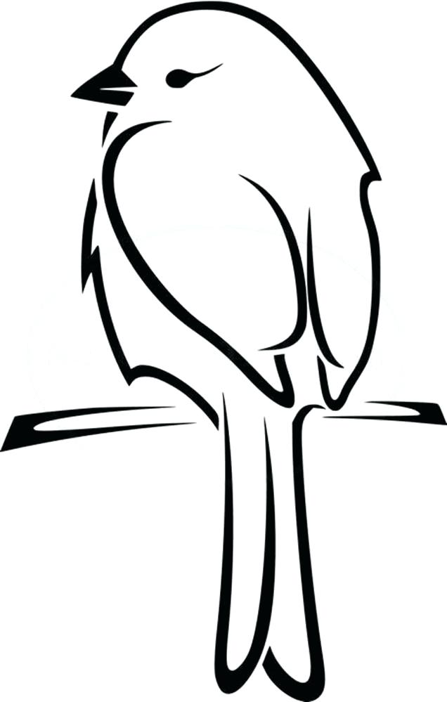 636x999 Draw An Easy Bird Bird Drawing Easy How To Draw A Bird Step Step