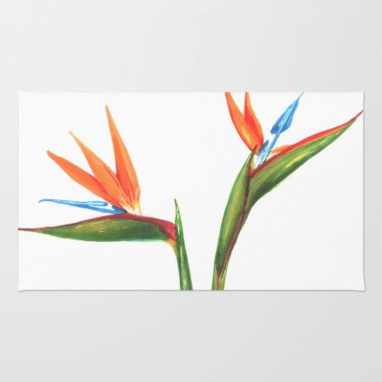 550x550 Bird Of Paradise Flowers Rug