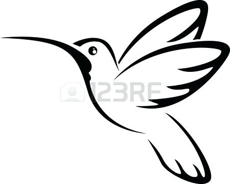 450x361 hummingbird outline hummingbird outline tattoo hummingbird outline