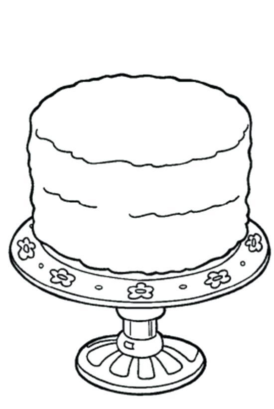 Birthday Cake Drawing Step By Step