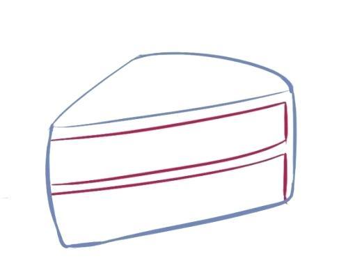 520x378 how to draw a easy cake drawn cake easy draw so cute birthday cake