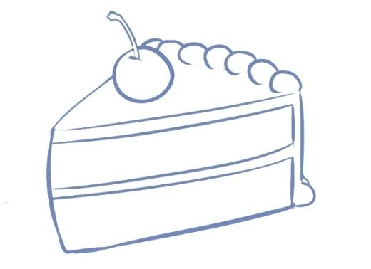 520x378 cake drawing happy birthday cake bday cake drawing easy