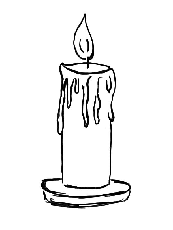 600x800 candle, light candle coloring pages light candle coloring