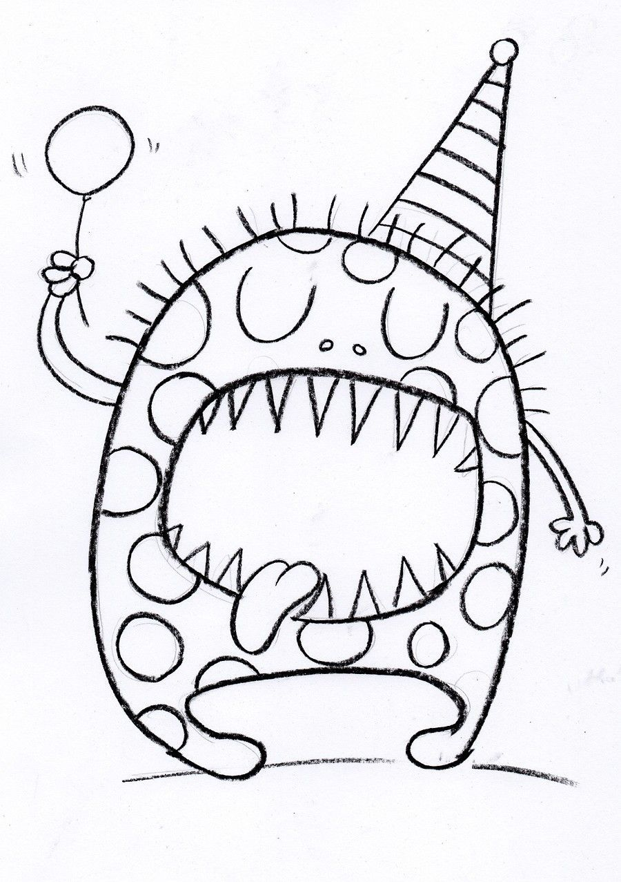 900x1277 Birthday Decoration Drawing