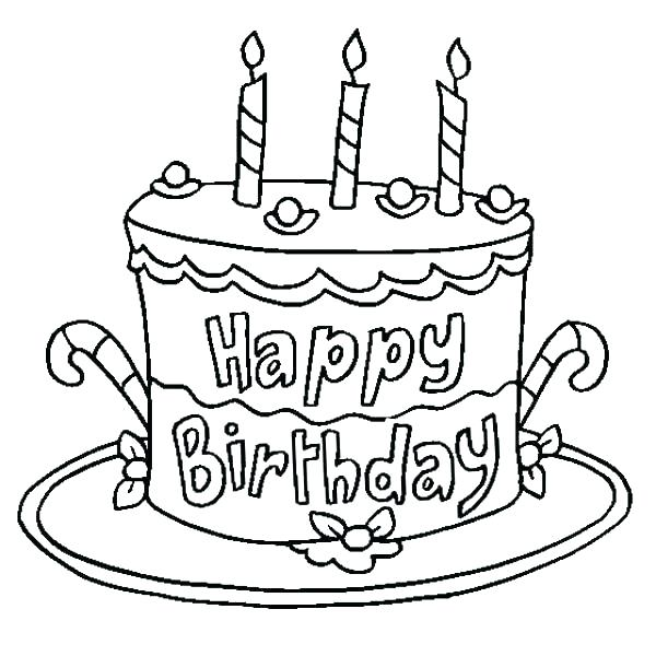 600x600 Colouring Pages Birthday Cake Birthday Free Coloring Pages