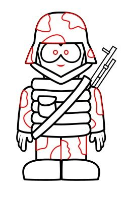 250x391 Drawing A Cartoon Soldier Army Party Soldier Drawing, Drawings