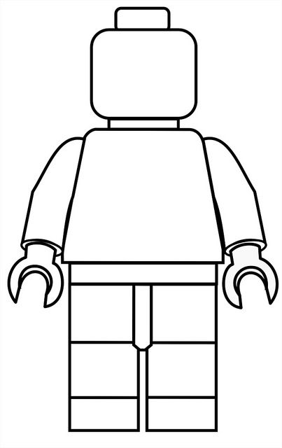403x640 Lego Mini Fig Drawing Template Clipart Lego Birthday, Lego