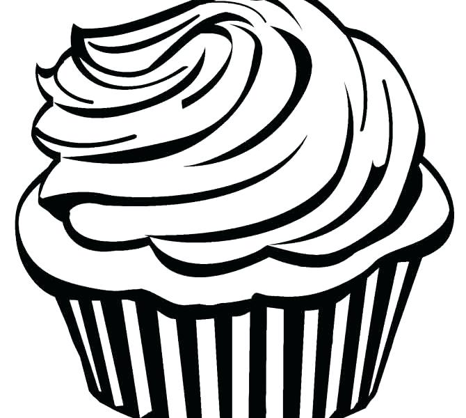 670x600 cupcake drawing outline cupcake graphic cupcake outline