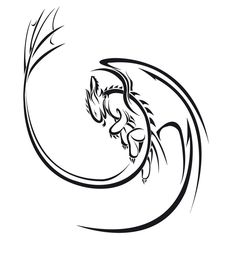 Black And White Dragon Drawings