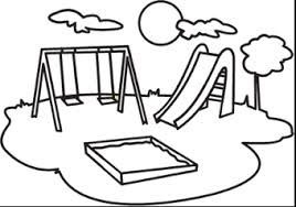 268x188 Playground Clip Art Black And White Google Search Drawing