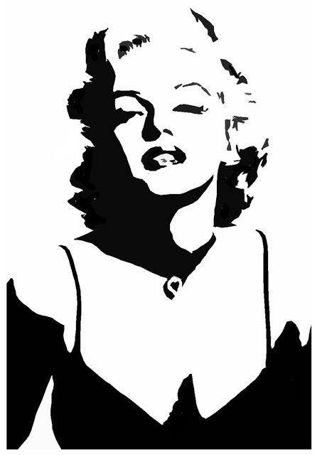 446x640 amazing stencils marilyn monroe stencil stencils marilyn