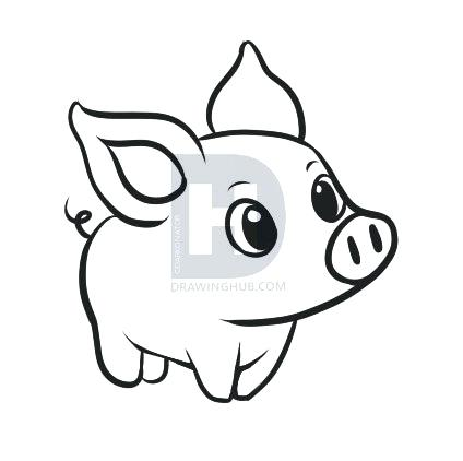 424x422 how to draw pig face pig black and white draw pig face on balloon