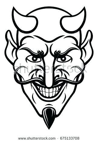 324x470 Devil Face Drawing