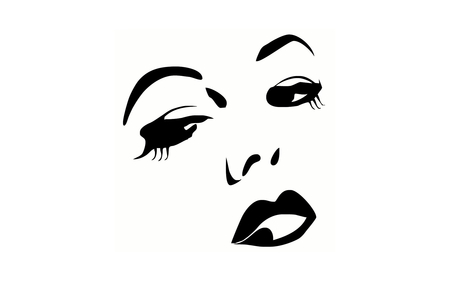 450x281 Black And White Face Drawing