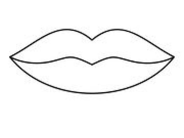 Black And White Lips Drawing