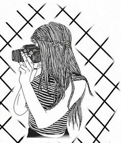 236x279 Image Result For Girl Drawing Black And White Girl