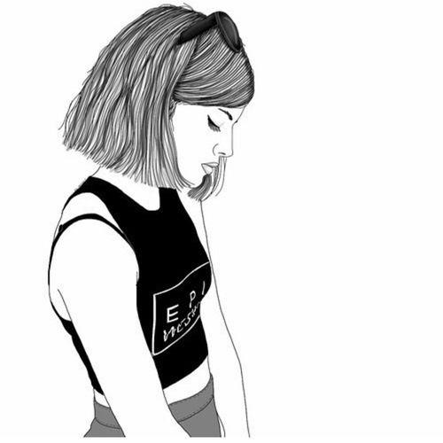 500x500 Art, Artsy, Black, Girly, Grunge, Hipster, Indie, Outline, Pale