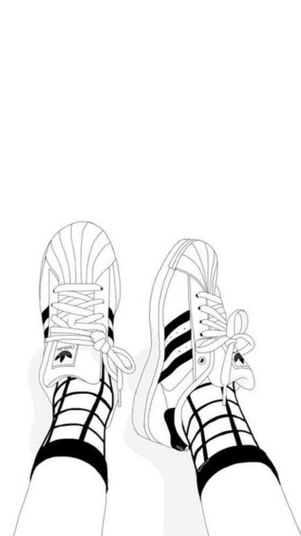 422x750 And Black Girl Adidas Drawings White Tumblr