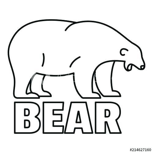 500x500 polar bear outline drawing polar bear outline polar bear tears