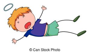 300x176 boy fell clipart drawing black and white